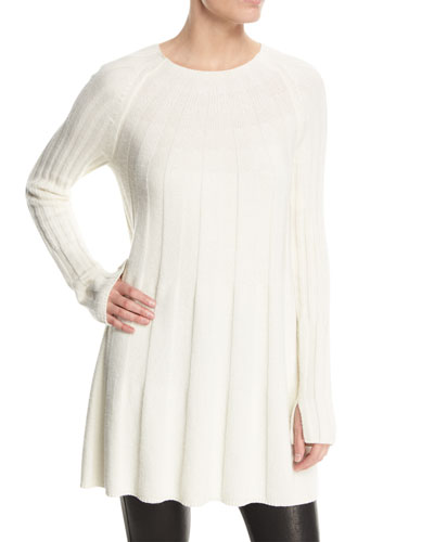 Gerri Crewneck Ribbed Swing Sweater Dress