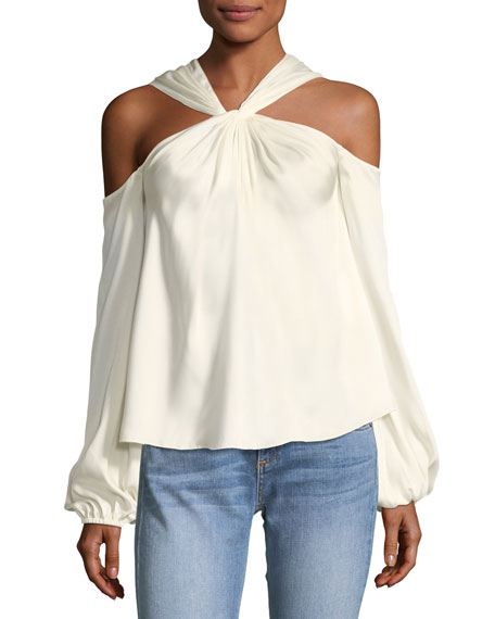 Elizabeth and James Minnie Twist-Front Long-Sleeve Blouse