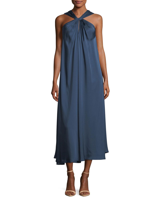 Cheap Sale Find Great Discount Price Cavan twisted-front satin-twill dress Elizabeth & James 2018 Newest Cheap Online i6YazCgV