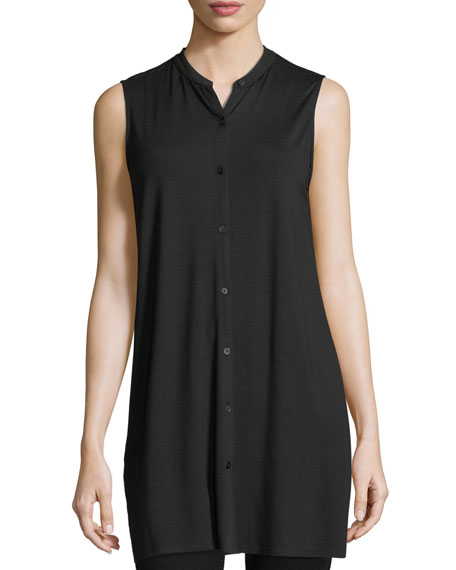 Eileen Fisher Sleeveless Jersey Long Top
