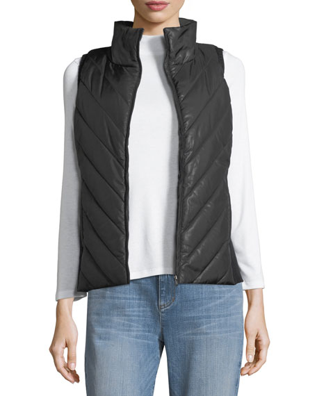 Eileen Fisher Parka Parts Zip-Front Vest