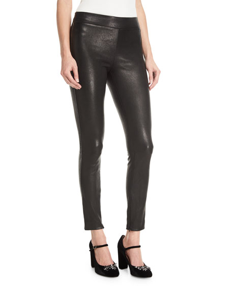 Elizabeth and James Pull-One Stretch-Leather Leggings