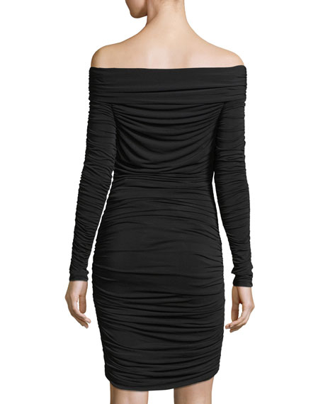 Ruched Dress with Sleeves