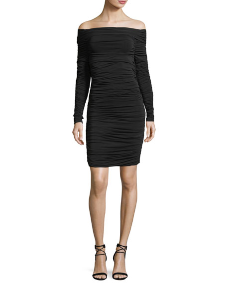 Elizabeth and James Blaise Off-the-Shoulder Long-Sleeve Ruched