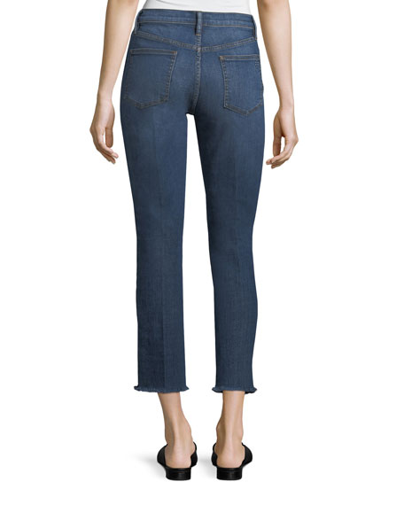 Harley Frayed-Ends Cropped Jeans
