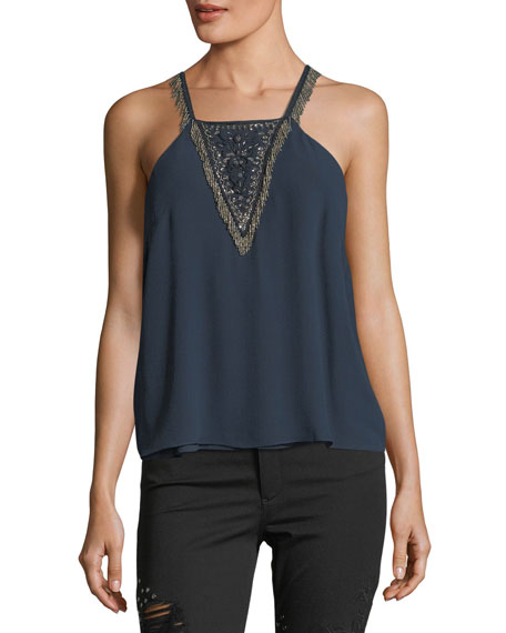 Through The Looking Glass Silk Camisole Tank