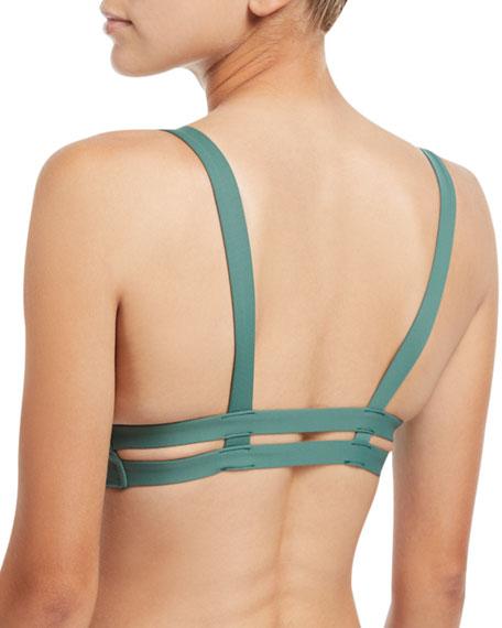 Neutra Bralette Swim Top, Sage Ecolux