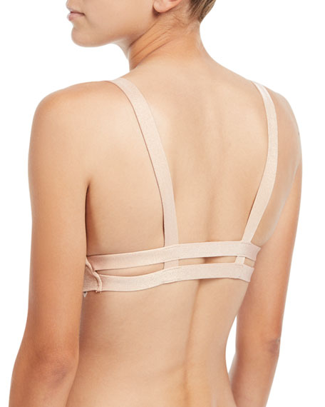 Neutra Bralette Swim Top, Rose Gold