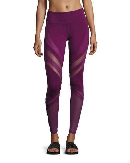 Alo Yoga Epic Matte & Glossy Mesh Leggings