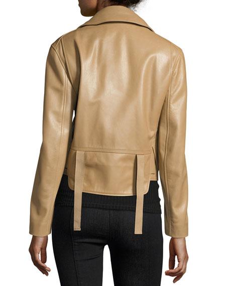 Classic Leather Moto Biker Jacket