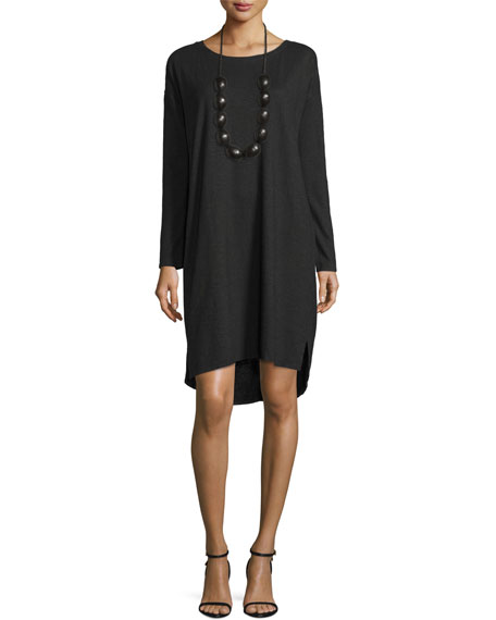 Eileen Fisher Long-Sleeve Hemp Twist Shift Dress