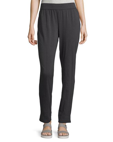 Eileen Fisher Organic Cotton Stretch-Jersey Slim Pants