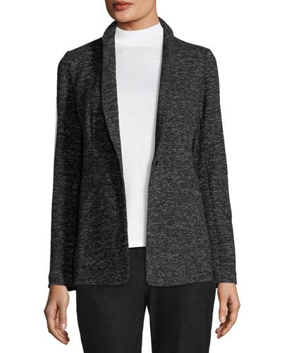 Speckle Cotton-Blend Blazer, Plus Size