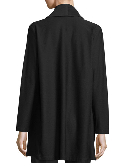 Shawl-Collar Long Jacket