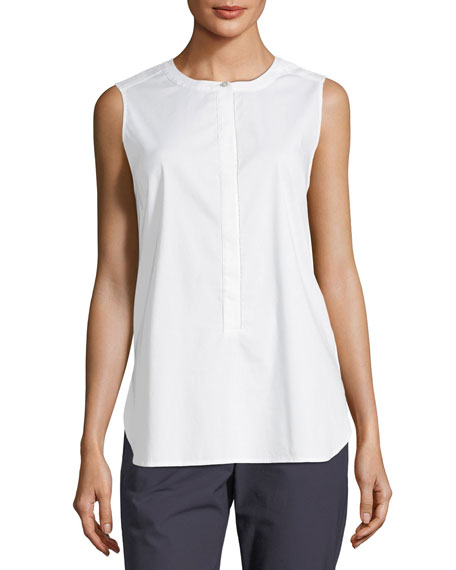 St. John Collection Solid Sleeveless Stretch Top
