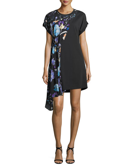 3.1 Phillip Lim Short-Sleeve Floral-Print Silk Dress