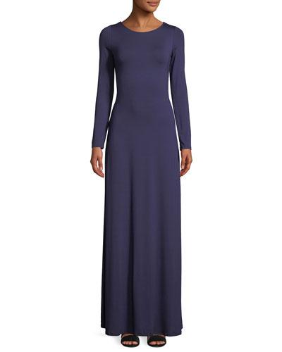 Breeze Reversible Long-Sleeve Maxi Dress