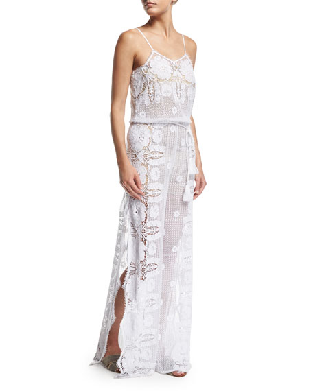 Miguelina Azalea Sheer Lace Maxi Dress Coverup