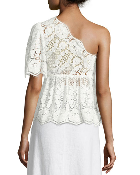 Eleanor One-Shoulder Lace Top