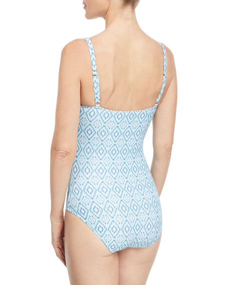 Tuscany Ikat-Print One-Piece Swimsuit