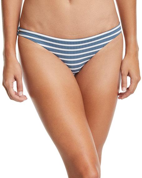 Luciana Full-Coverage Striped Swim Bikini Bottoms