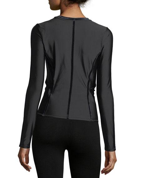 Nocturnal Velvet Long-Sleeve Pullover Training Top