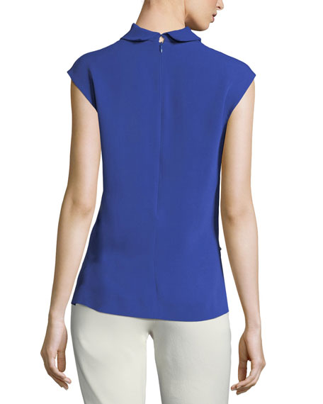 Louise Sleeveless Silk Blouse