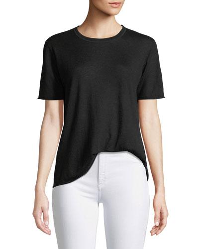 Cashair Cashmere Short-Sleeve Tee