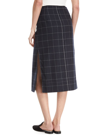 Omar Plaid Wrap Skirt
