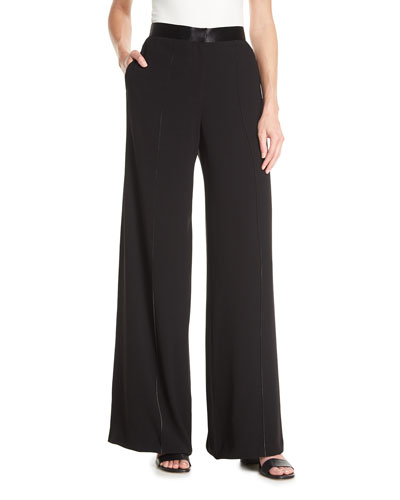 Yuli High-Waisted Pants w/Contrast Stitching