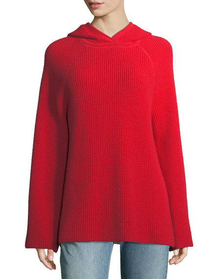 Elizabeth and James Tristan Cashmere Hooded Waffle Sweater