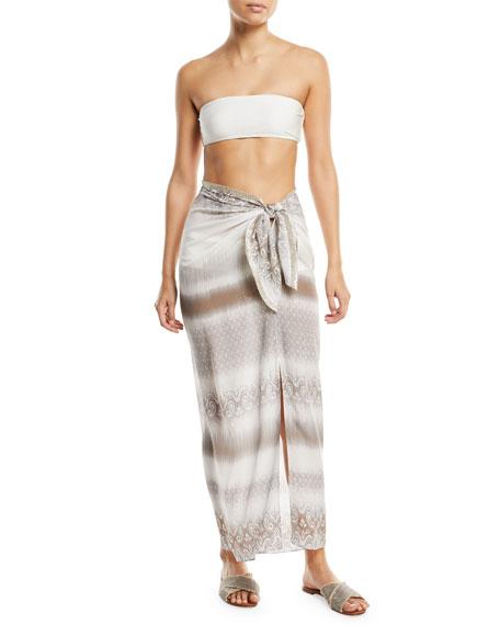 Sarong Tie-Waist Long Skirt