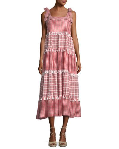 Soiree Square-Neck Sleeveless Maxi Dress