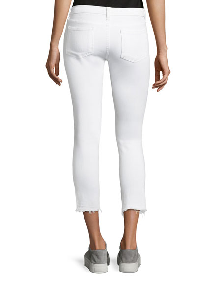 Brooke Fray-Hem Low-Rise Skinny Jeans