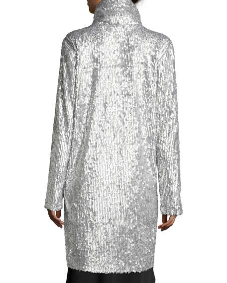 Oversized Sequin Topper Coat