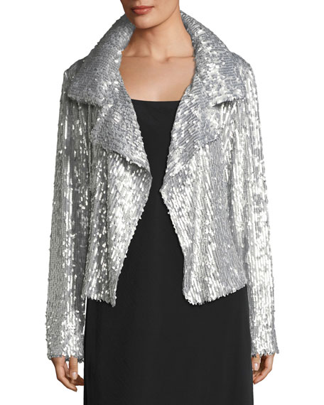 Sequin Long-Sleeve Jacket