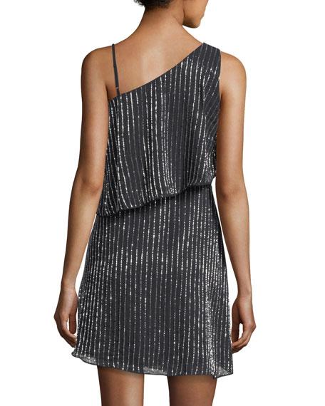 Hazel Asymmetric Sleeveless Mini Cocktail Dress