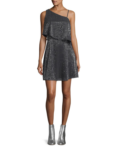 Parker Black Hazel Asymmetric Sleeveless Mini Cocktail Dress