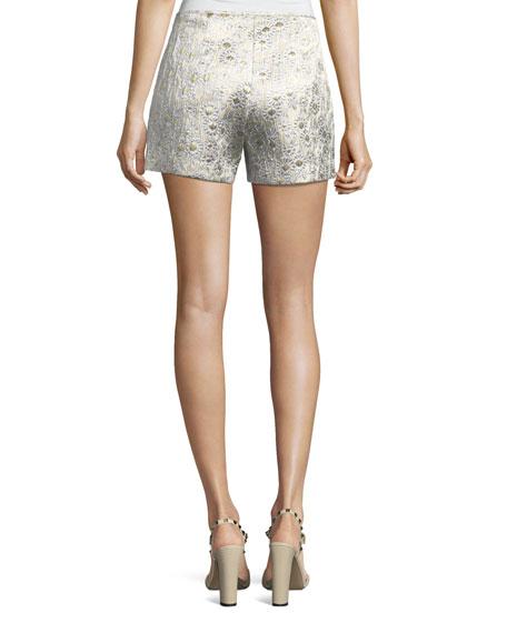 Metallic Daisy Jacquard Shorts
