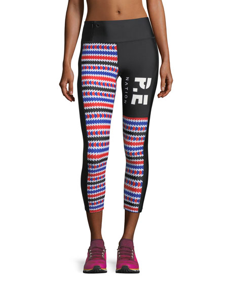PE Nation Bell Lap Mid-Rise 7/8 Printed Leggings