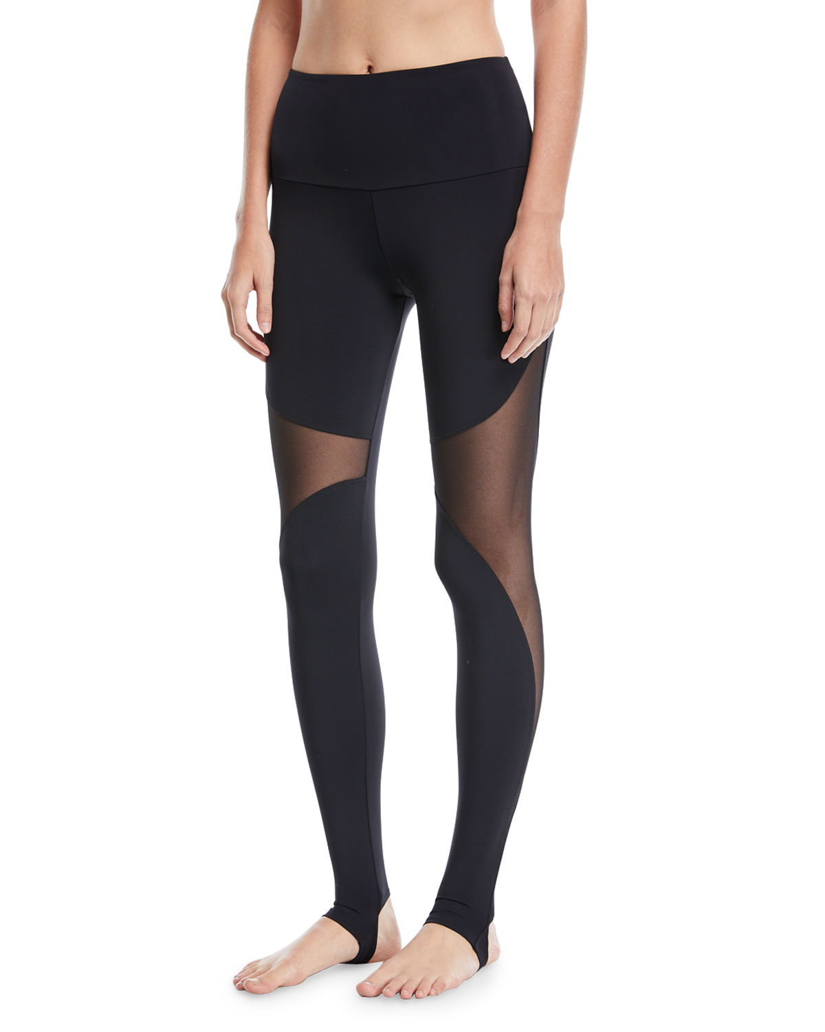 7a73cd3731924 Onzie High-Rise Stirrup Leggings with Mesh | Neiman Marcus