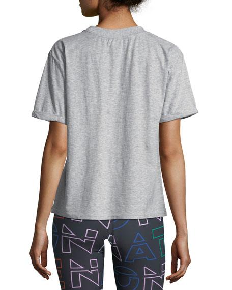 Jump-Off Crewneck Short-Sleeve Logo-Graphic Cotton Jersey Tee