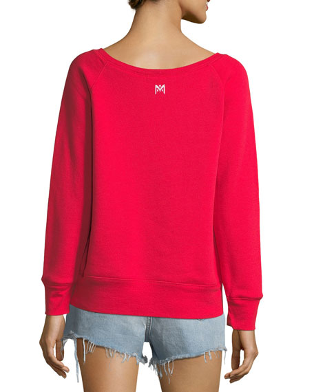 Slippery When Wet Scoop-Neck Sweatshirt