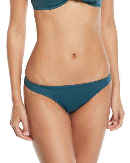 Milly St. Lucia Low-Rise Solid Swim Bottoms