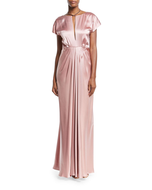 Pink Satin Gown | Neiman Marcus