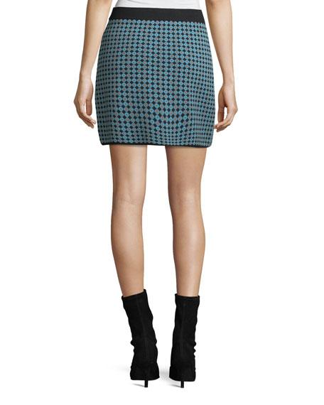 Monogram Jacquard Straight Skirt