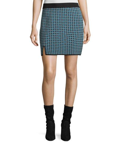 Alexa Chung Monogram Jacquard Straight Skirt