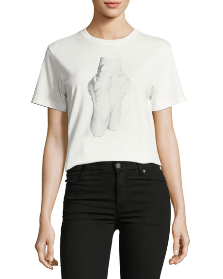 Alexa Chung En Pointe Crewneck Graphic T-Shirt