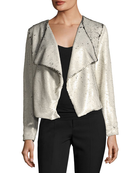 Cupcakes and Cashmere Bellwood Open-Front Sequined Jacket