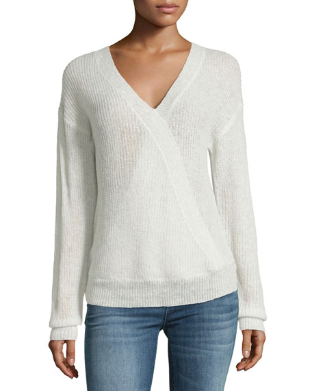 Cupcakes and Cashmere Sterberg Crossover V-Neck Knit Sweater